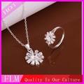 cristal blanco conjunto de joyas para la novia fs617