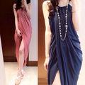 Nueva moda de la mujer condolerse cabestro vestido de cinturón de alta- de hendidura de china