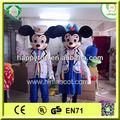 hi ce del ratón mickey y minnie mouse traje de la mascota para adultos