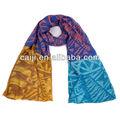 Clásico mix- color figura geométrica balisha impresa bufanda