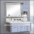 moderno cuarto de baño muebles de acero inoxidable de pared baño modelo gabinete 9032-1000