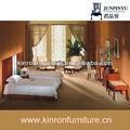 新しい近代的なホテル2014年木材標準サイズのベッドルームセット家具
