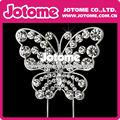 hermoso cristal de diamante de imitación de la mariposa de pastel topper