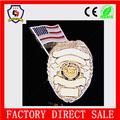 Barato de promoción de la policía de plata nos placa de metal para nueva york( hh- badge- 396)