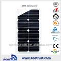 buen rendimiento de alta calidad semi flexible panel solar
