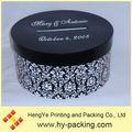 de lujo hermosa personalizado cilindro de invitación de la boda caja de tarjeta con ranura