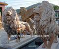 leão de pedra escultura de jardim