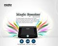 Novedad regalo de la Navidad del altavoz inalámbrico por inducción para iPhone5C, 5S MDT-MS317