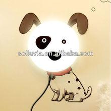 divertido de dibujos animados de papel bricolaje de la pared de la lámpara