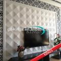 3d de papel decoración de la pared con material de pvc en relieve 3d patrón