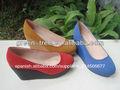 cómodo de gamuza azul zapatos de plataforma
