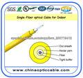 Cable flexible de fibra óptica interior de núcleo