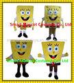 buena visual de alta calidad de la mascota de bob esponja bob esponja trajes de disfraces para adultos