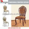 De estilo europeo mano- tallado de madera antigua silla de comedor de muebles de foshan