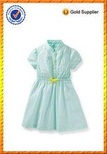 Adolescente los niños niñas 100% tira de tejido de algodón camisa de vestir de verano