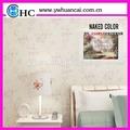 china de alta calidad 3d blanco puro para el hogar papel pintado para la impresión digital
