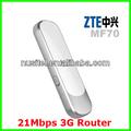desbloqueado 3g wifi router inalámbrico zte mf70 módem