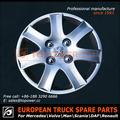 china facory auto piezas de repuesto de la rueda de centro de la tapa para el europeo de camiones