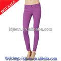 Diseño de moda las mujeres de color baratos skinny jeans( ldant11)
