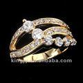 diamante anillos de oro de diseño para mujeres