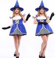 el azul nueva etapa de la bruja de halloween fiesta uniforme ropa sexy