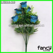11 azul flores color de rosa para decoración de la boda& de regalo