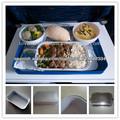 Eco-Friendly Airline aluminio Foil comida cajas para líneas aéreas españolas