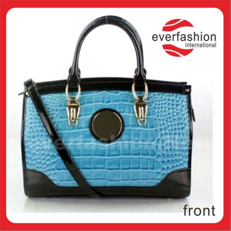Chin S De Alta Qualidade Da Bolsa Elegante Couro Azul
