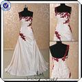 de cuentas jj2997 novia balón vestido de color rojo vino de vestidos de novia