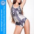 esqueleto humano elegante padrão livre foto de sexo mulheres swimwear um pedaço vestuário fabricantes china