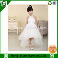 New sweet cute sleeveless white lace short front & long back flower girl dress