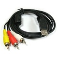 usb macho rca cable convertidor para portátil/pc