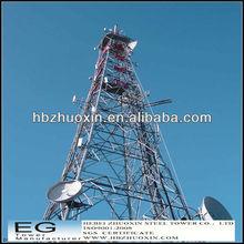 por inmersión en caliente de acero galvanizado de comunicación de microondas de la torre