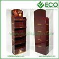 venta por mayor claro cosméticos PS Display Racks fabricados en china