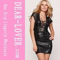 venta al por mayor nueva sexy vestido negro de cóctel