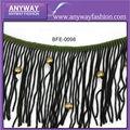 atractivo borlas para vestido decoración borlas pendiente de cuentas