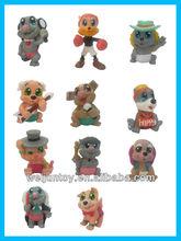 popular 2014 productos perro juguetes de plástico conjunto de animales de fabricación china