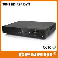 Nube P2P 4 canales H.264 960H completo de detección de movimiento dvr ayuda 3G y WiFi y HDMI