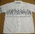 mens impreso algodón camisa hawaiana