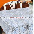 venta al por mayor calidad en relieve de pvc cordón de plástico de vinilo manteles redondos