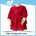 De la muchacha 100% popelín de algodón de bebé vestido de princesa niña vestidos