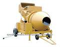 Mezclador concreto 750L con el motor diesel, sistema de inclinación hidráulica