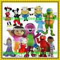 popular personaje de dibujos animados traje de la mascota