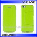 トップquaity超薄型財布フリップpuレザースタイルカバーのための緑でprocaseiphone5c携帯電話リンゴ