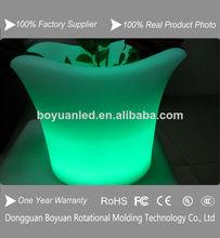 Portátil al aire libre led de iluminación de frutas olla, led maceta de plástico para las plantas