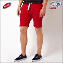 diseño fresco puro corto de algodón con cordón venta al por mayor la mitad de los pantalones para los hombres
