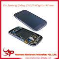 Al por mayor para Samsung S3 LCD, para el montaje digitalizador de pantalla lcd samsung galaxy s3 con el marco