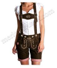 las señoras con estilo bávaro oktoberfest lederhosen trachten pantalones cortos