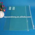 de lujo carpeta de plástico transparente con cierre de cremallera