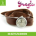 Promotion hot sale populalr ladies watch leather watch